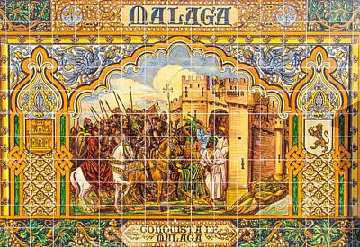 Photograph - Malaga - Azulejos by Andrea Mazzocchetti