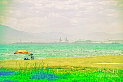 Photograph - Malaga Beach  by Mary Machare
