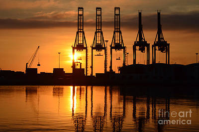Photograph - Malaga - Costa Del Sol - Andalucia - Spain - Port At Sunrise by Carlos Alkmin