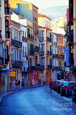 Street Scene Digital Art - Malaga Evening by Mary Machare