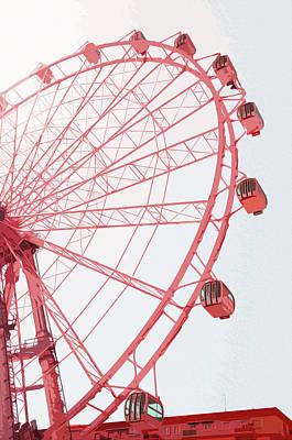 Painting - Malaga, Ferris Wheel - 01 by Andrea Mazzocchetti