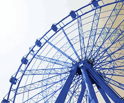 Painting - Malaga, Ferris Wheel - 02 by Andrea Mazzocchetti