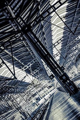 Photograph - Malaga Railway Station Abstract by Jenny Rainbow