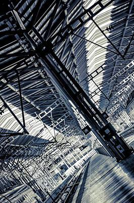 Photograph - Malaga Railway Station Abstract by Jenny Rainbow