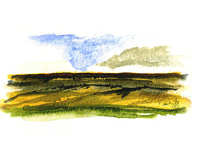 Malaga Washington Ridge Art Print by Paul Gaj
