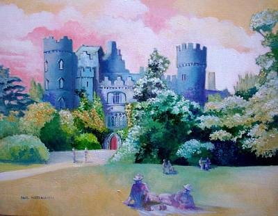 Painting - Malahide Castle Dublin Ireland by Paul Weerasekera