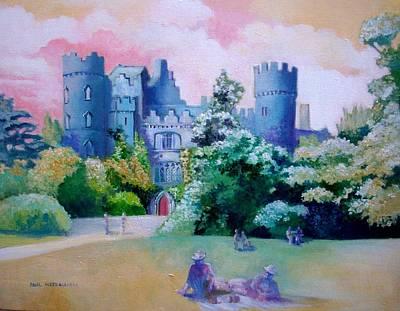 Painting - Malahide Castle Dublin Ireland by Paul Weerasekera