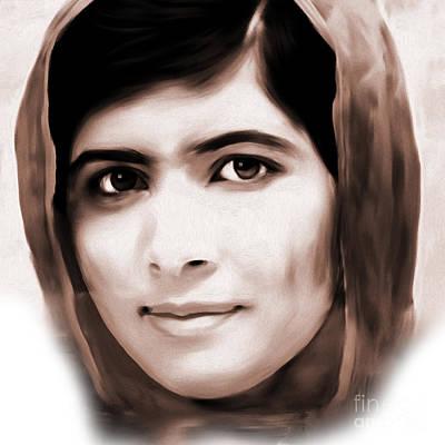 Malala Yousaf Zai 01 Art Print