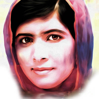 Pakistan Painting - Malala Yousaf Zai 02 by Gull G