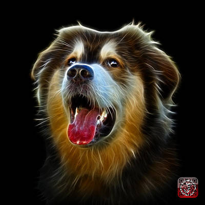 Painting - Malamute Dog Art - 6536 - Bb by James Ahn