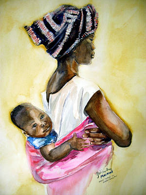 Malawian Mother Print by Shirley Roma Charlton