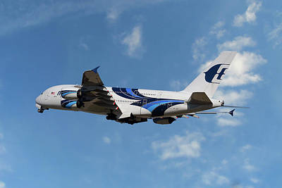 Malaysia Airlines Airbus A380-841 Art Print