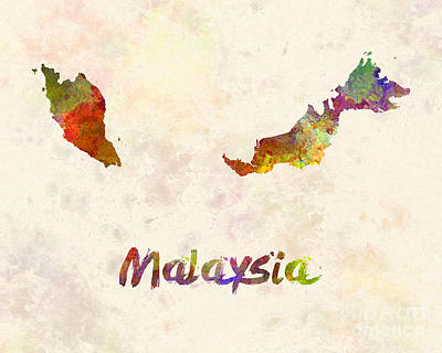Southeast Asia Painting - Malaysia In Watercolor by Pablo Romero