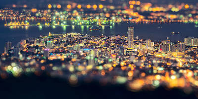 Georgetown Wall Art - Photograph - Malaysia Penang Hill At Night by Jordan Lye