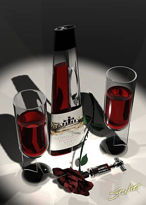 Digital Art - Malbec Wine - Romance Expectations by Stuart Stone
