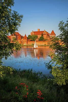 Photograph - Malbork Castle At Sunset In Poland by Artur Bogacki