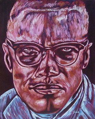 Painting - Malcolm by Shahid Muqaddim
