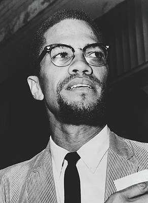 Photograph - Malcolm X 1963 by Herman Hiller