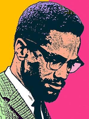 Malcolm X Mixed Media - Malcolm X 2 Alt by Otis Porritt