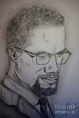 Malcolm X Art Print by Collin A Clarke