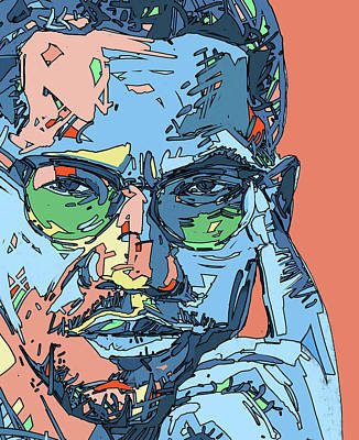 Digital Art - Malcolm X Color by Bekim Art