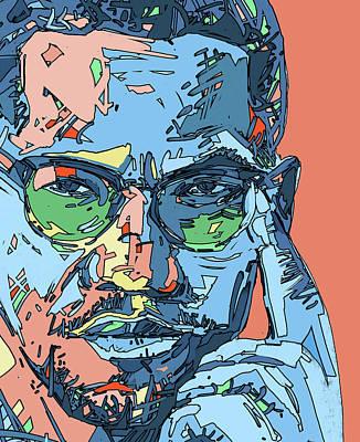 Digital Art - Malcolm X Color by Bekim Art