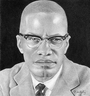 Malcolm X Art Drawing - Malcolm X by Curtis Maultsby