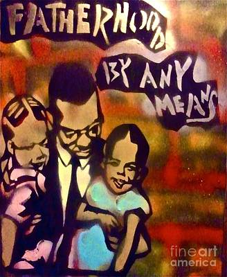 Obama Family Painting - Malcolm X Fatherhood 2 by Tony B Conscious