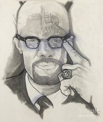 Malcolm X Art Drawing - Malcolm X by Gregory Taylor
