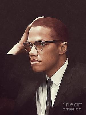 Vintage Automobiles - Malcolm X by Esoterica Art Agency