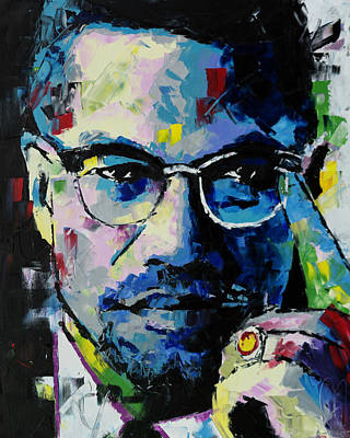 Malcolm X Art Print by Richard Day