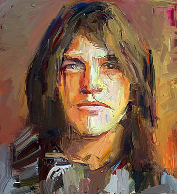 Malcolm Young Acdc Tribute Portrait Art Print
