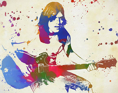 Music Paintings - Malcolm Young by Dan Sproul