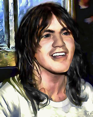 Drawing - Malcolm Young by Sergey Lukashin