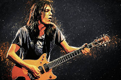 Digital Art - Malcolm Young by Zapista