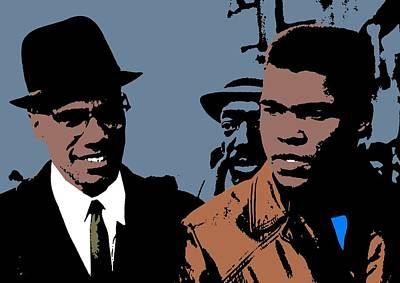 Malcom X And Cassius Clay Art Print