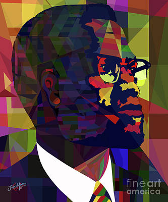 Malcom X Art Print by James  Mingo