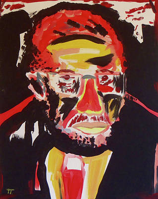 Malcom X Art Print by Troy Thomas