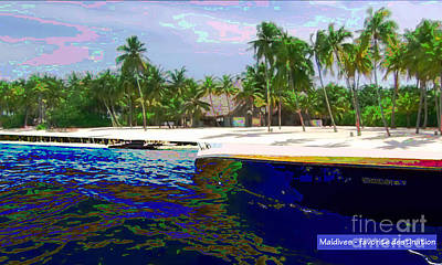 Painting - Maldive Islands A Dream Come True by Navin Joshi