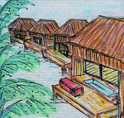 Watercolor Painting - Maldives by Art By Naturallic