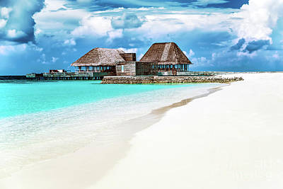 Photograph - Maldives Beach Resort by Anna Om