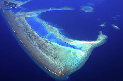 Photograph - Maldivian Atoll 1. Aerial Journey Around Maldives by Jenny Rainbow