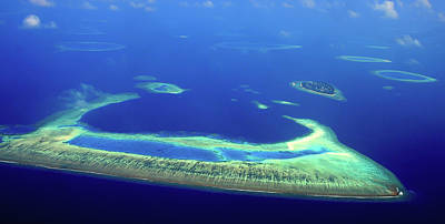 Photograph - Maldivian Atoll. Aerial Journey Around Maldives by Jenny Rainbow