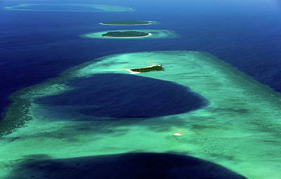 Photograph - Maldivian Coral Islands In Blue Ocean by Jenny Rainbow