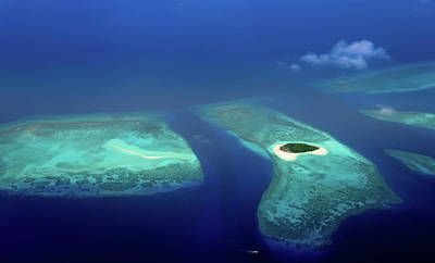 Photograph - Maldivian Coral Reefs And  Desert Island by Jenny Rainbow
