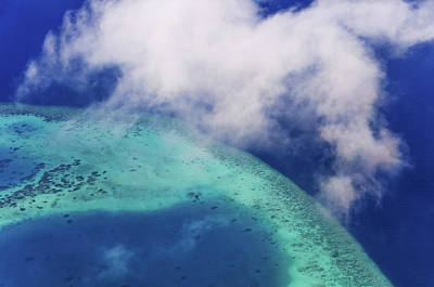 Photograph - Maldivian Dreams 3. Aerial Journey Around Maldives by Jenny Rainbow