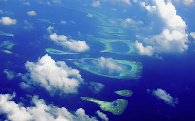 Photograph - Maldivian Dreams. Aerial Journey Around Maldives by Jenny Rainbow