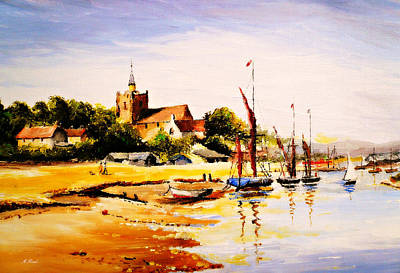 Contemporary Seascape Art Painting - Maldon Essex by Andrew Read