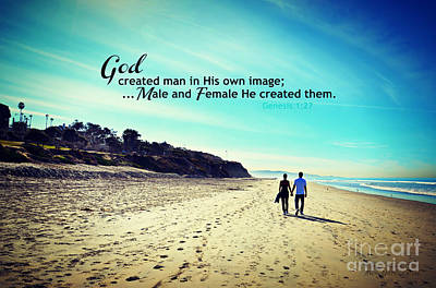 Photograph - Male And Female He Created Them by Sharon Soberon