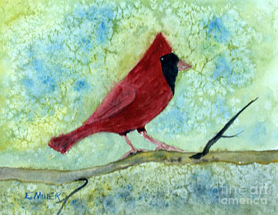 Painting - Male Cardinal  by Eunice Miller